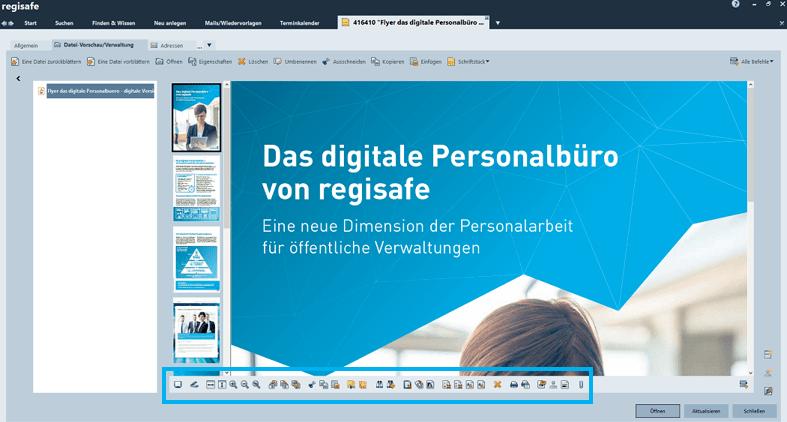 Datei-Vorschau/Verwaltung