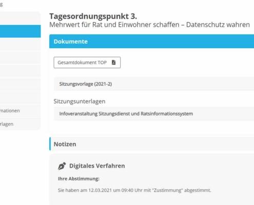 digitales Verfahren Ratsinformation