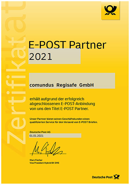 E-Post Partner-Zertifikat